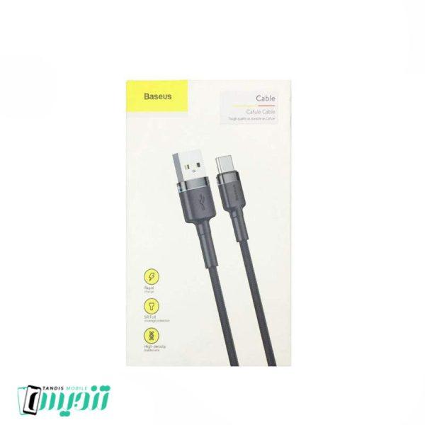 کابل تبدیل USB به USB-C باسئوس مدل Cafule طول 1 متر