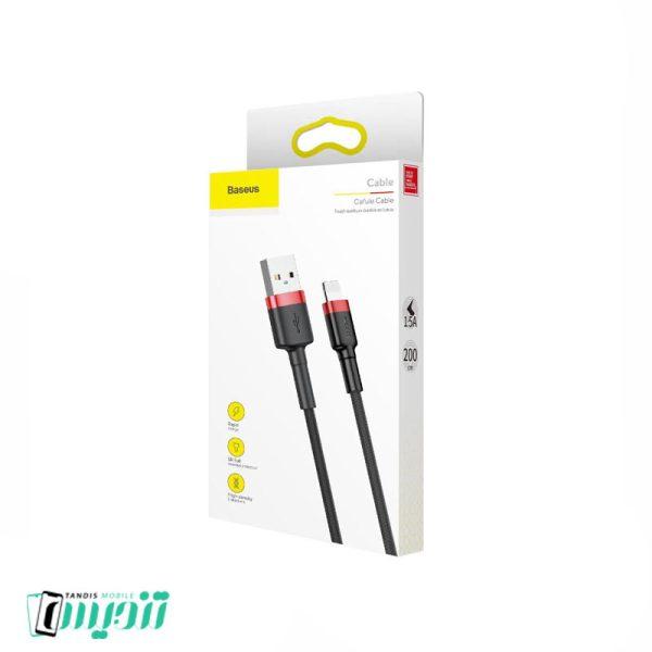 کابل تبدیل USB به لایتنینگ باسئوس مدل CALKLF-C19 Cafule طول 2 متر